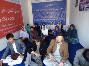 LSO VAW advocacy committee saved the life of a raped woman  from attempted murder by her family in Nili, center of Daikundi province on Aug, 26th, 2015. for details, see: http://laborspring.org.af/success-story/