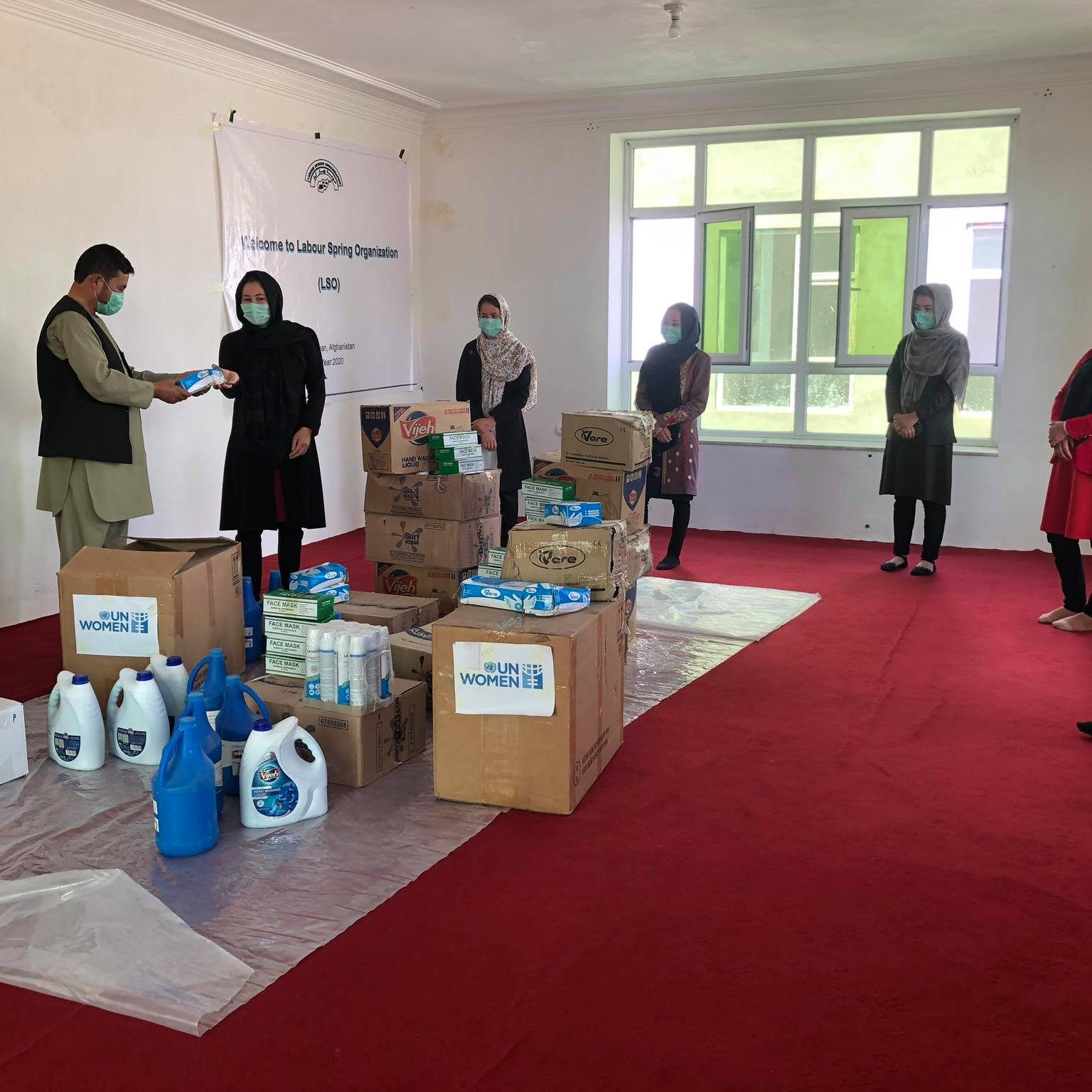 LSO provides Personal Protection Equipment to its Women Protection Center in Bamyan province in responce to COVID-19 with funding from UN Women as a key funder.